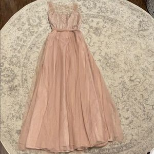 Watters Light Dusty Pink Lace Dress